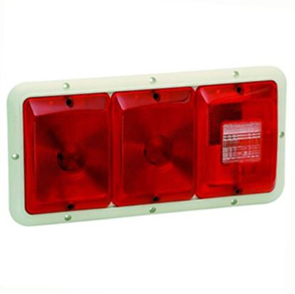 "Picture of Bargman 84 Series Red 14-1/16""x6-15/16""x1-1/4"" Tail Light 30-84-002 18-0054"