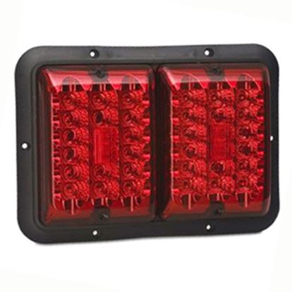 "Picture of Bargman 84 Series Red 9-13/16""x6-15/16""x1-1/4"" LED Stop/ Tail/ Turn Light 48-84-527 18-0141"