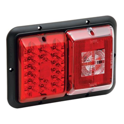 "Picture of Bargman 84 Series Red 9-13/16""x6-15/16""x1-1/4"" LED Stop/ Tail/ Turn Light 48-84-008 18-0142"