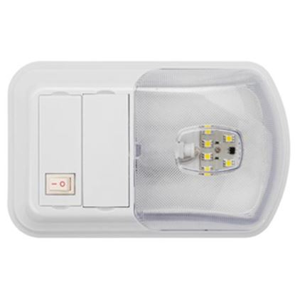 Picture of Brilliant Light (TM)  White w/Clear Lens Ceiling Mount Interior Light w/Switch 016-BL3002 18-0177