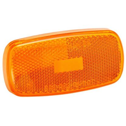 Picture of Bargman  Amber Snap-On Side Marker Light Lens For Bargman 59 Series 31-59-012 18-0183