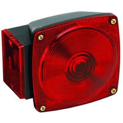 "Picture of Bargman 80 Series Red 4-3/4""x4-1/2""x2-9/16"" Tail Light 2823283 18-0289"