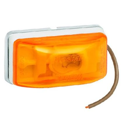 """Picture of Bargman  Amber 2-1/8""""x1-1/8""""x1-1/16"""" Side Marker Light 203233 18-0342"""