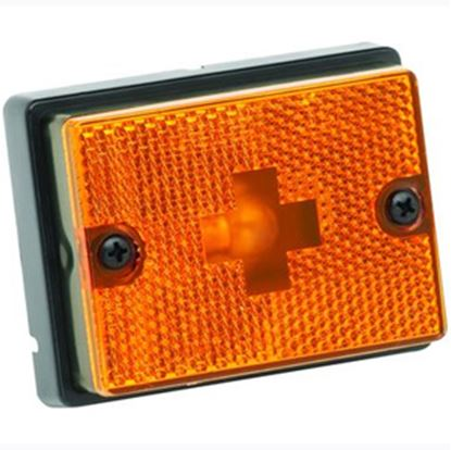 """Picture of Bargman  Amber 3-1/8""""x2-3/8""""x1"""" Side Marker Light 203111 18-0356"""