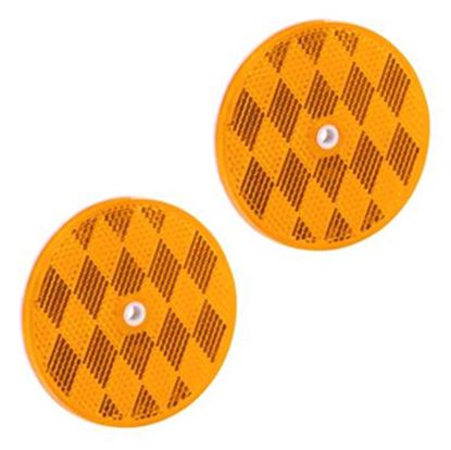 "Picture of Bargman  2-Pack 3-3/16"" Round Amber Screw Mount Reflector 74-68-020 18-0398"