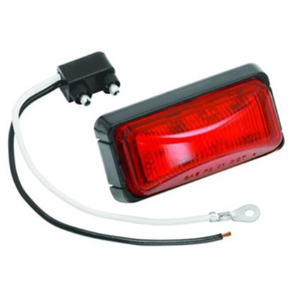 "Picture of Bargman  Red 2.6""x1.2""x1.03"" LED Side Marker Light 42-37-401 18-0454"