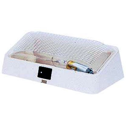 Picture of Peterson Mfg.  Polar White w/Clear Lens Rectangular Porch Light w/Switch V384S 18-1051
