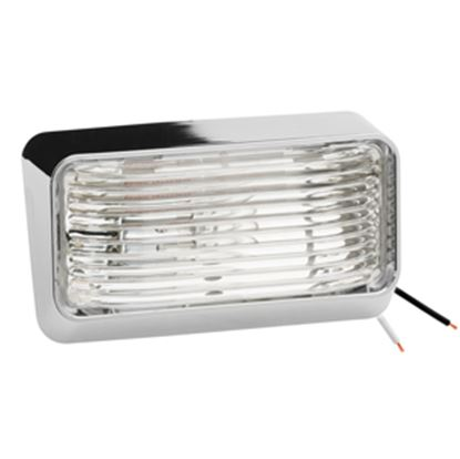 Picture of Draw-Tite 78 Series Chrome Base Clear Lens Porch Light 30-78-600 18-1060