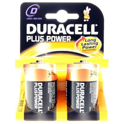 Picture of Duracell  2-Pack D-Type; Alkaline Battery DURD 18-1255