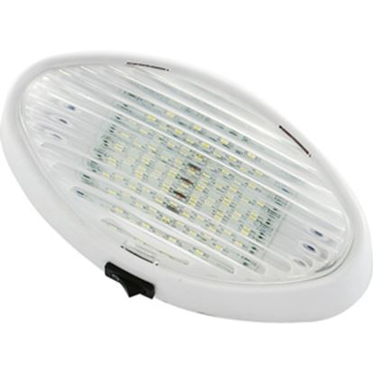 Picture of Green LongLife  Clear w/Amber Lens Oval LED Porch Light w/Switch 9090118 18-1394
