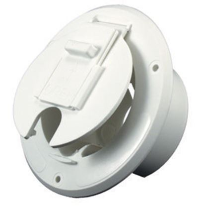 "Picture of JR Products  Colonial White 2-27/32""RO Round Electrical Hatch Access Door S-23-14-A 19-0200"