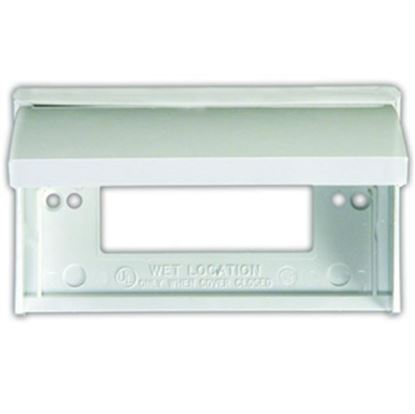 Picture of JR Products  Polar White Receptacle Cover 47515 19-0207