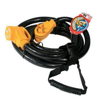 Picture of Camco Power Grip (TM) 15' 50A Extension Cord w/Plug Head Handle 55194 19-0514
