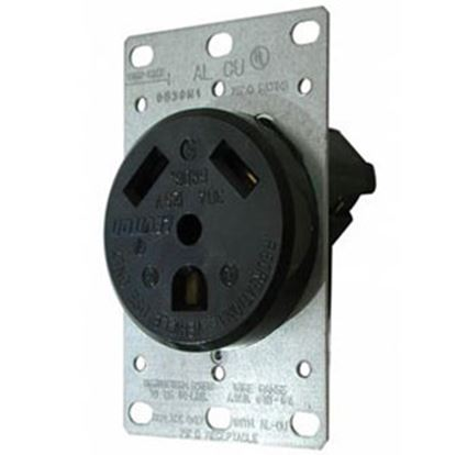 Picture of Diamond Group  Black 125V/ 30A Indoor/ Outdoor Single Receptacle DG30VP 19-1388