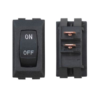 Picture of Diamond Group  1-Piece Black SPST Rocker Switch DG118UVP 19-2066