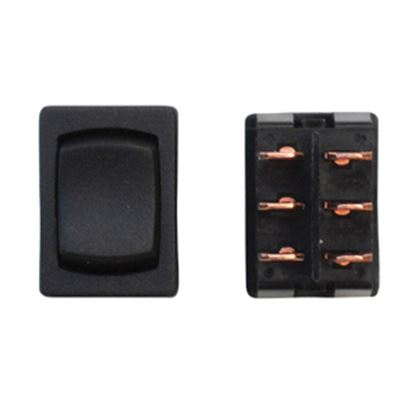 Picture of Diamond Group  Black 125V/ 16A DPDT Rocker Switch For Water Pumps DG261VP 19-2085