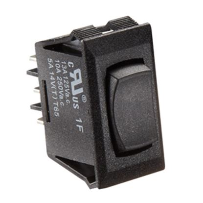 Picture of RV Designer  Black 10A SPDT Rocker Switch for Water Heater S341 19-2457