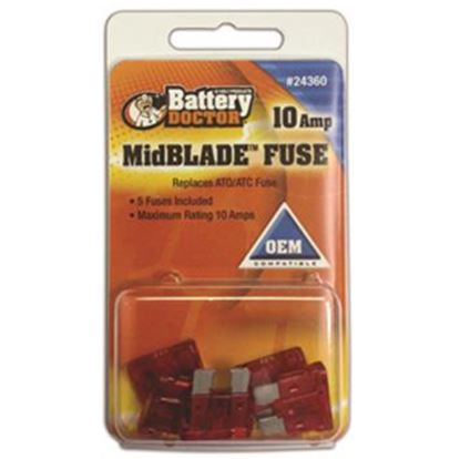 Picture of Battery Doctor  10A ATO/ ATC Red Blade Fuse 24360 19-3560