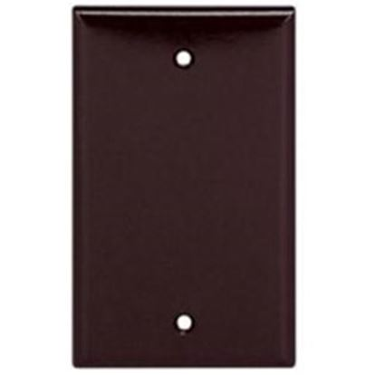 Picture of Cooper Wire Arrow Hart Brown Thermoset Plastic 1 Gang Receptacle Cover 2129B-BOX 19-3810