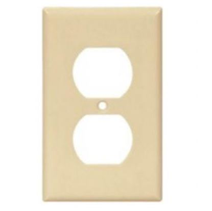 Picture of Cooper Wire Arrow Hart Ivory Thermoplastic 1-Gang Receptacle Cover 2132V-BOX 19-3812