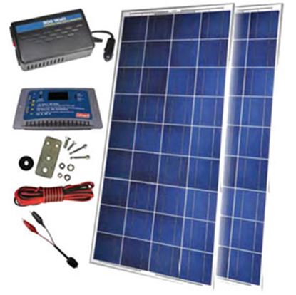 Picture of Sunforce  30o Watt Crystalline Solar Panel Kit w/ Controller/Inverter 38528 19-3908