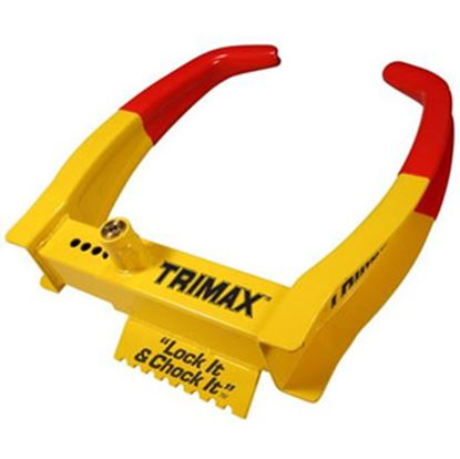 "Picture of Trimax Locks  Lock it and Chock it!"" Wheel Chock Lock TCL75 20-0426"