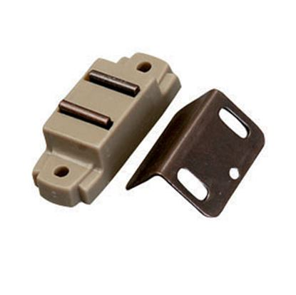 "Picture of AP Products  Tan Surface Mount Magnetic Catch, w/ ""L"" Strike 013-014-1 20-0500"