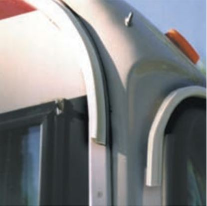 Picture of EZE  100'L Polar White Poly Vinyl Drip Rail For RV Roof Edge UW10004 20-1262
