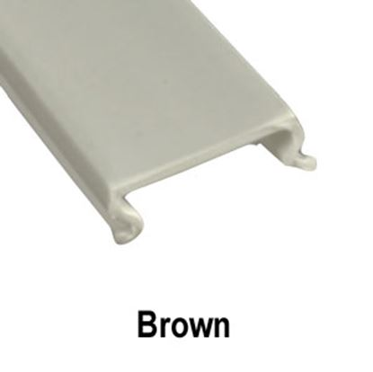 """Picture of AP Products  5-Pack Brown Plastic 5/8""""W X 8'L Trim Molding Insert 011-360-5 20-1547"""