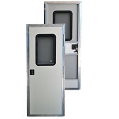 """Picture of AP Products  Polar White w/WH Window Frame RH 24""""x70"""" Square Entry Door 015-217712 20-4001"""