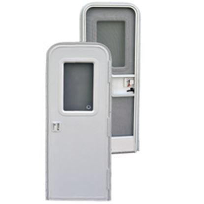 """Picture of AP Products  Polar White w/WH Window Frame RH 24""""x68"""" Radius Entry Door 015-217708 20-4015"""