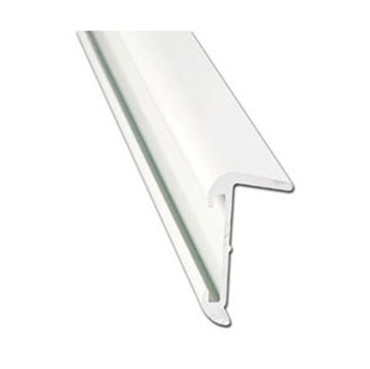 Picture of AP Products  16'L Polar White Aluminum Roof Edge Trim 021-57401-16 20-6967