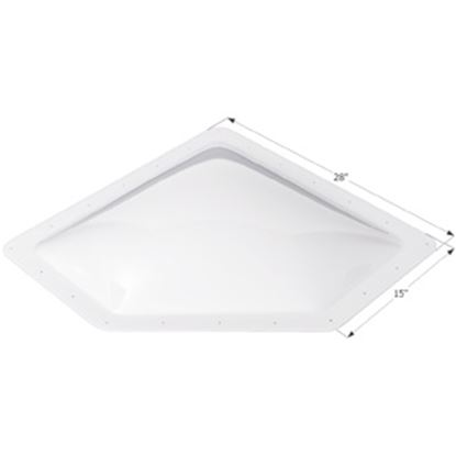 """Picture of Icon  4""""H Bubble Dome Neo Angle White PC Skylight w/15"""" X 28"""" Flange 01867 22-0028"""