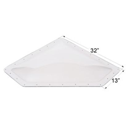 """Picture of Icon  4""""H Bubble Dome Neo Angle Clear PC Skylight w/13"""" X 32"""" Flange 01868 22-0029"""