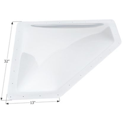 """Picture of Icon  4""""H Bubble Dome Neo Angle White PC Skylight w/13"""" X 32"""" Flange 01869 22-0030"""