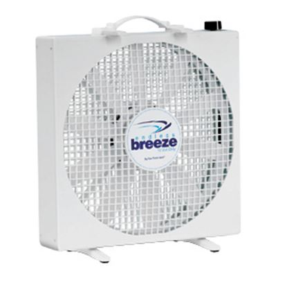 "Picture of Fan-Tastic Vent Endless Breeze White 14"" 12V 3-Speed Non-Oscillating Free Standing Fan 01100WH 22-0102"