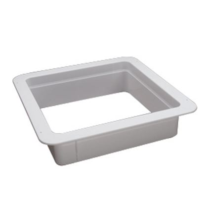 "Picture of Heng's  White 1-1/8"" Deep for 14""x14"" Opening Radius Roof Vent Garnish 90090B 22-0157"