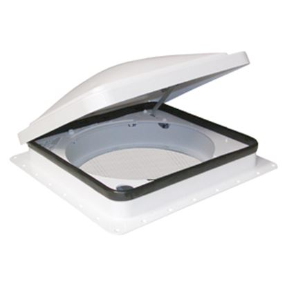 "Picture of Fan-Tastic Vent 800 White 14""x14"" Polyethylene Frame Roof Vent 800800 22-0450"