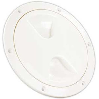 "Picture of JR Products  White 4.45""RO Lockable Cord And Fresh Water Compartment Access Door 31005 22-0533"