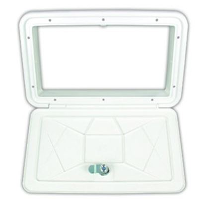 """Picture of JR Products  Polar White 11-1/16""""RO Multi-Purpose Utility Hatch Access Door ZE102-A 22-0553"""