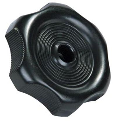 "Picture of JR Products  0.27"" Black Plastic Window Crank Knob 20365 23-0577"