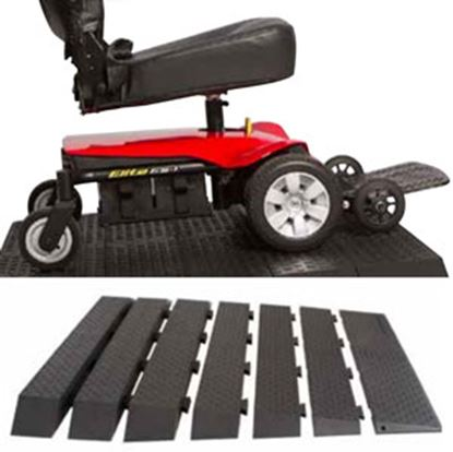 "Picture of Pride Mobility  Rubber Ramp Kit w/ 1"" Rise RAMPRBK1R 25-0104"