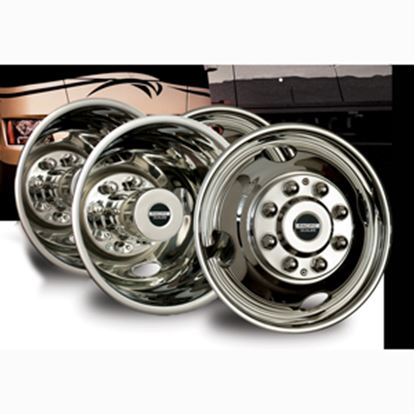 """Picture of Pacific Dualies  4-Set 16"""" 6 Lug Snap-On Wheel Simulator 44-1608 25-1017"""