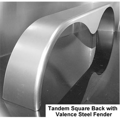 """Picture of ConnX  72"""" Long Radius Tandem Teardrop Trailer Fender for 14"""" to 15"""" Wheels MFS069 25-4011"""