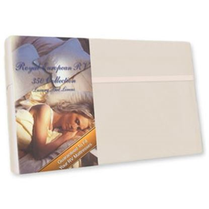 "Picture of Custom Recreation  Champagne Mist 350 TC 34"" x 75"" Bunk Bed Sheet RV34X75/CM 69-1173"