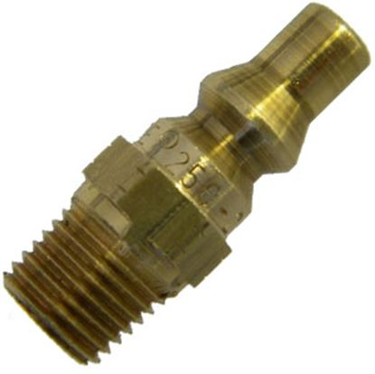 Picture of MB Sturgis  1/4 Inch Model 250 Plug x 1/4 Inch MNPT Brass LP Adapter Fitting 401132PKG 69-6655