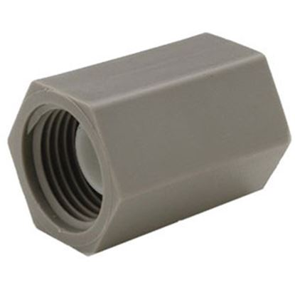 """Picture of QEST Qicktite (R) 1/2"""" FPT Gray Acetal Fresh Water Straight Fitting  69-8121"""