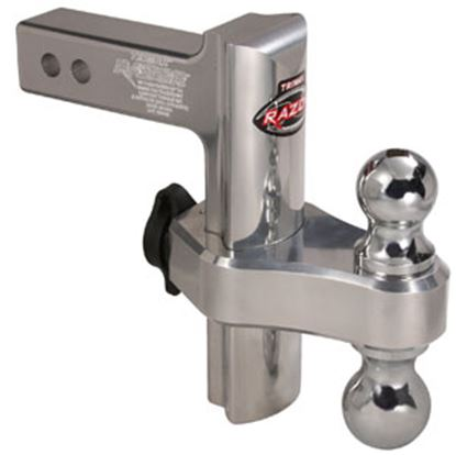 "Picture of Trimax Locks  Class III/IV 2"" 10K 8"" Adj Drop/ Lift Aluminum Double Ball Mount TRZ8AL 69-8355"