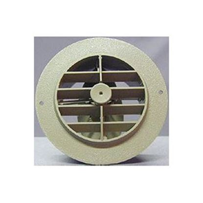 "Picture of D&W INC.  Black 4"" Round 360 Deg Rotation Heating/ Cooling Register w/ Damper 3840RBK 69-8745"