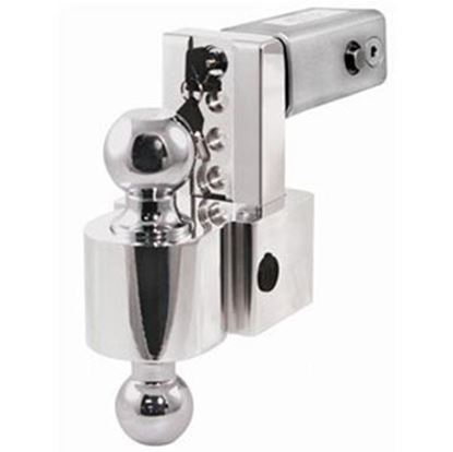 "Picture of Fastway Flash (TM) 2"" 10K 4"" Drop x 5"" Lift Aluminum Double Ball Mount w/Ball DT-ALBM6400 69-8912"